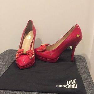 Love Moschino red high heel pumps